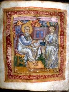 Apostle John opposite Maricion of Sinope PD-US