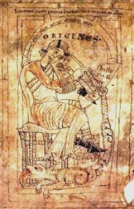 Origen at the Library of Caesarea PD-US