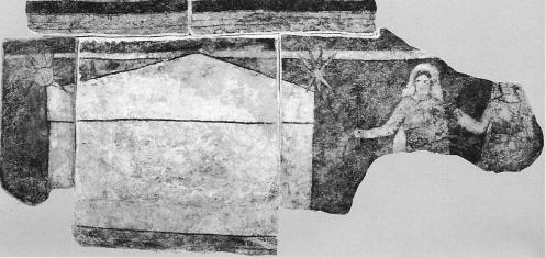 Saintes femmes au tombeau - fresque du baptistre de Doura Europ